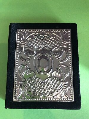 Silver Plated And Velvet Notebook