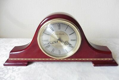 Mahogany Westminster Chiming Napoleon Hat Mantle Clock ( Working )