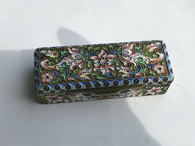 Russian Silver and Enamel Box