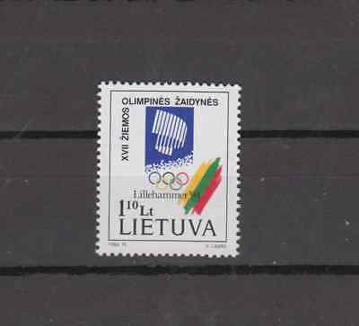 Lithuania 1994 Winter Olympics Complete Set Mint Never Hinged