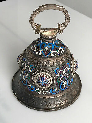 Russian Silver and Enamel Bell