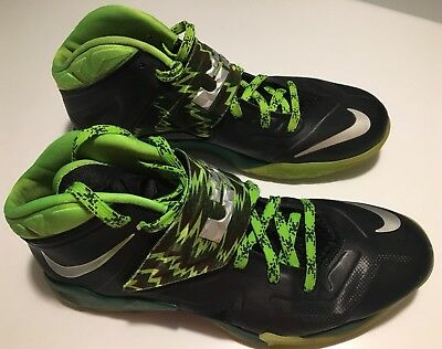 Nike Air Zoom Soldier VII 7 PP LeBron James Black Gorge Green 609679 004 Sz  10.5 49f031e0c6