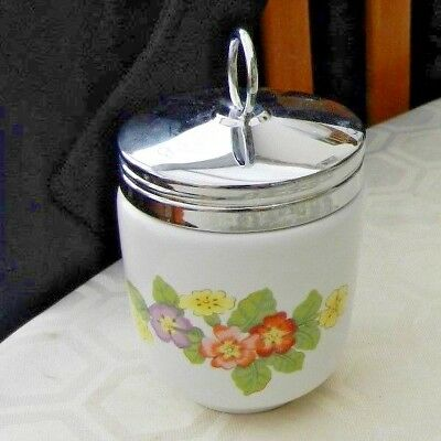 Severn Ware Worcester King Size Egg Coddler - Primrose Type Flowers