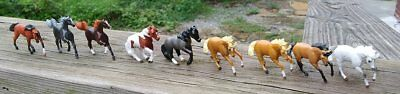Lot of 9 NINE Breyer Horse Mini Whinny Micro Minny Horses