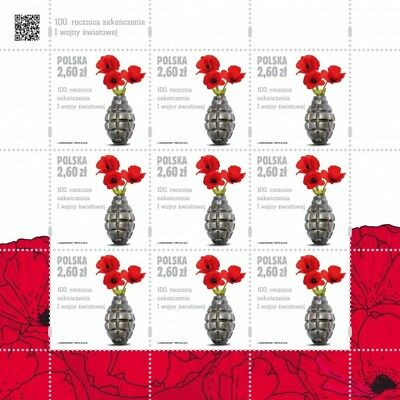 POLEN 2018 Klb 100th anniversary of the end of the First World War(2018; Nr kat.