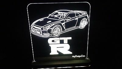 R35 Skyline GTR RHD Edge Lit Lighted Sign LED Lamp Acrylic Neon Glow US Made