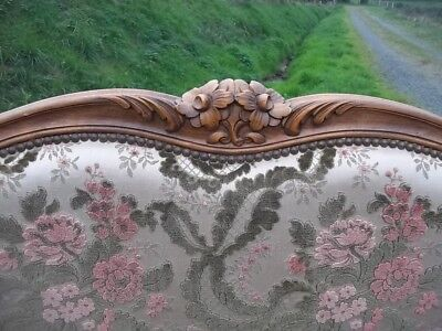 French Quality Classic  Brocade Double Louis Xv Revival Corbielle Bed