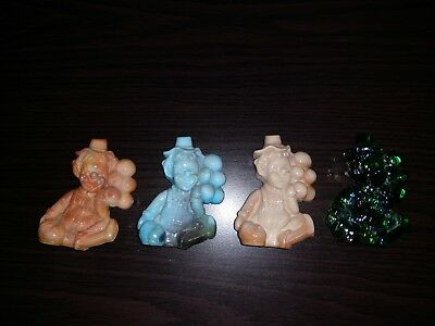 Four Mosser Glass Clowns - 81
