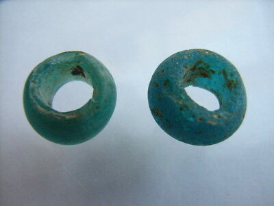 2 Ancient Roman Glass Beads, Romans VERY RARE!  TOP!
