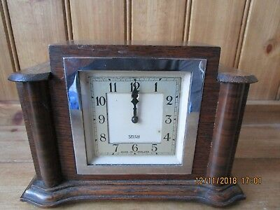 Vintage Art Deco Wooden & Bakelite  SMITH ELECTRIC CLOCK Made in England