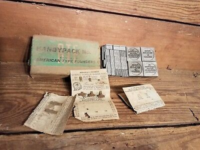 Antique Metal Printing Press US Postage Blocks Spacers parts letters Copper Bras