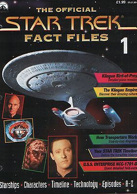 Star Trek Fact Files Issue 1 - Part Work Fabbri Publishing 1997 Enterprise Spock