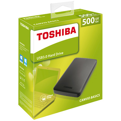 HDD Disque dur externe 2,5 500 GO GB 1TO 2TO  Portable Toshiba USB 3.0