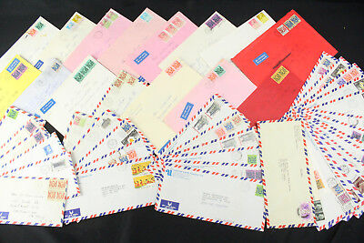 Huge Lot of 50 Hong Kong Covers 1955-1985 to USA Airmail, Registered Mail ++