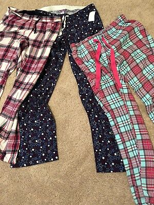 Lot Of 3 Mayernity Flabnel Lounge/pajama Pants Size s 1 Pair NWT!!