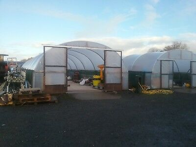 Poly tunnel 20m x 5m x 3m. with side curtains for ventilation