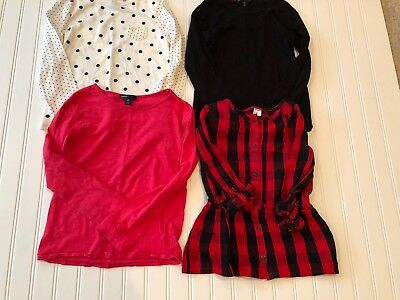 Girls Lot Of 4 Gap & Carters Tops & Tunic Sz6