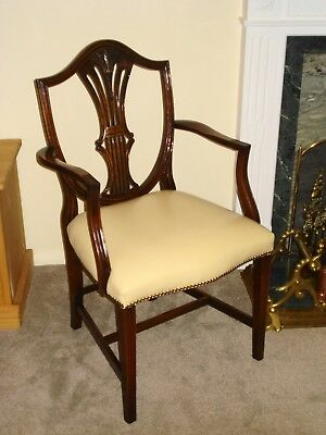 Bevan Funnell Reprodux Carver Elbow Desk Chair Georgian Style - BRIGHTON Pick Up