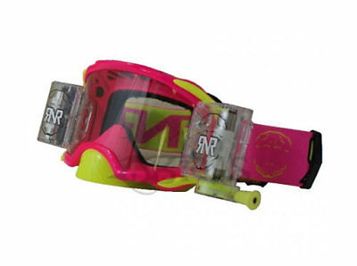 RIP'N'ROLL Platinum Wide Vision System Neon Pink Goggles