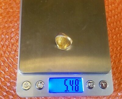 5.48  Grams 20K Scrap Gold Ring from 2 1/2 Dollar Gold Piece