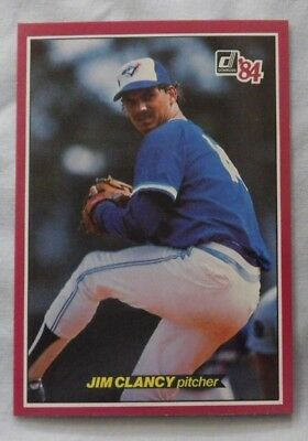 Jim Clancy Toronto Blue Jays 1983 Donruss Diamond King Autographed