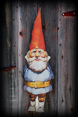 Garden gate old man gnome potting shed door doll hanger primitive vintage