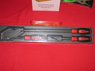 Snap On Tools 3 -Pc Red Soft Grip Instinct Trim Pad Tool Set Brand New