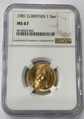 Great Britain 1981 Gold Sovereign NGC MS67