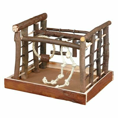 Trixie Wooden Small Parrot Playground Parakeet Cockatiel Play Stand Wood Cage