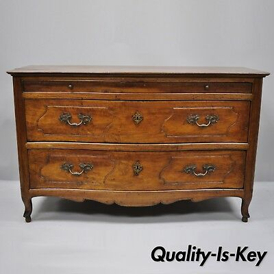 18th Century French Country Louis XV Walnut Commode Chest of Drawers