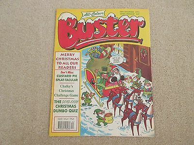 BUSTER COMIC all colour- Dec 28th 1991-,  very Good condition-Christmas issue