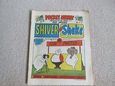 SHIVER AND SHAKE  Comic No 30, Sept 29th  1973- Good condition.