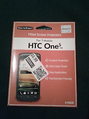 Pack of 3 Writeright screen protectors T-Mobile HTC One