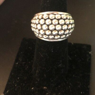 Michael Dawkins Sterling Silver Starry Night Ring Size 8