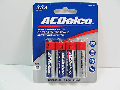 ACDelco AA Batteries Super Heavy Duty 4-Count Package
