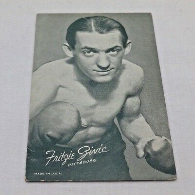 Genuine Vintage Old Boxing Card Frizie Zivic Weightweight Champion 1949/40