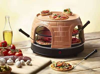 Pizza-Ofen Pizzarette für 8 Personen Emerio PO116124 Pizzo-Dom Mini-Pizza-Maker
