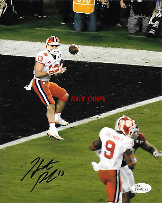 HUNTER RENFROW HAND SIGNED CLEMSON TIGERS NATIONAL CHAMP 8X10 PHOTO Reprint