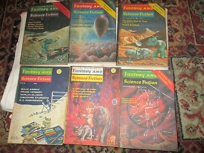 Job Lot 6 Issues The Magazine Of Fantasy And Science Fiction