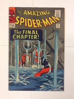 Amazing Spider-Man #33 Marvel Comic Ditko Art Silver Age 12c 5.0-6.0