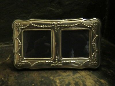Stirling silver double picture frame. Vintage.