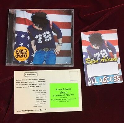 Ryan Adams / All Access Backstage Pass / Lost Highway Postcard / Gold 2cds