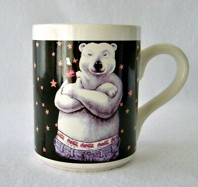 Vintage 1996 Advertising Coca-Cola Rapper Polar Bear Jeans Large Coffee Cup Mug