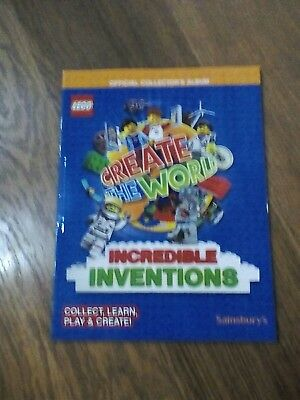 6 Lego Card Album Sainsburys Create The World Incredible Inventions Book 2018