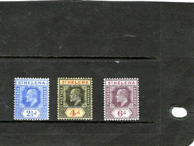 ST HELENA,the 3 KEVII issues comp. MINT hinged