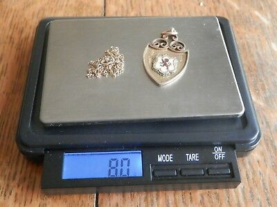 Antique 9 Carat Gold Sports Medal & Vintage Chain (8 Grams, Better Than Scrap)