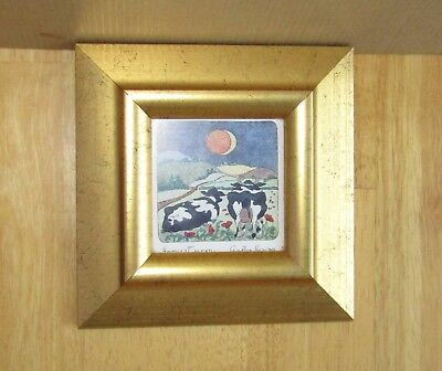 Harvest Moon Picture signed by Cynthia Rowan from original etchings Rowanprints