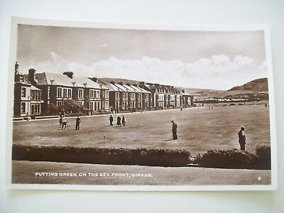 Putting Green on the Sea Front, Girvan. c.1930's