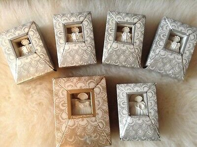 MARGARET FURLONG SHELL ANGEL ORNAMENTS LOT OF 6 All New in Boxes Never Used!