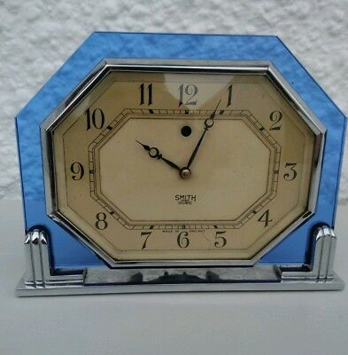 Rare Art Deco Smiths Sectric Electric Glass And Chrome Clock